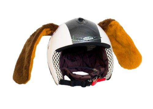 Peter el perro. Adherido al casco de deporte. Accesorio