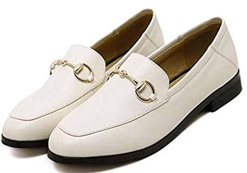 YTTY A Pedal All-Match Small Leather Shoes,white,36
