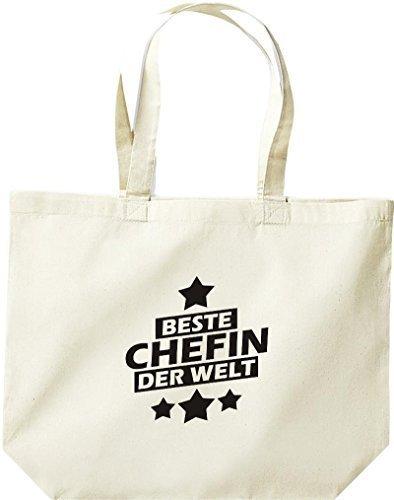 shirtstown grande borsa della spesa, MIGLIORI Chefin DEL MONDO Naturale