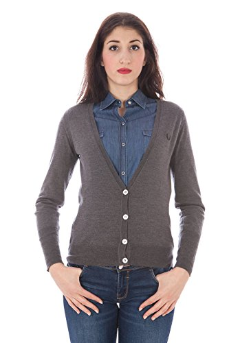 FRED PERRY 31342021 CARDIGAN Damen GRIGIO S