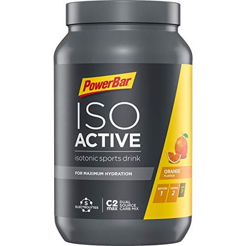 PowerBar Isoactive Isotonisches Sportgetränk (5 Elektrolyte und C2max Dual Source Carb Mix)  - Orange  (1 x 1,32kg)