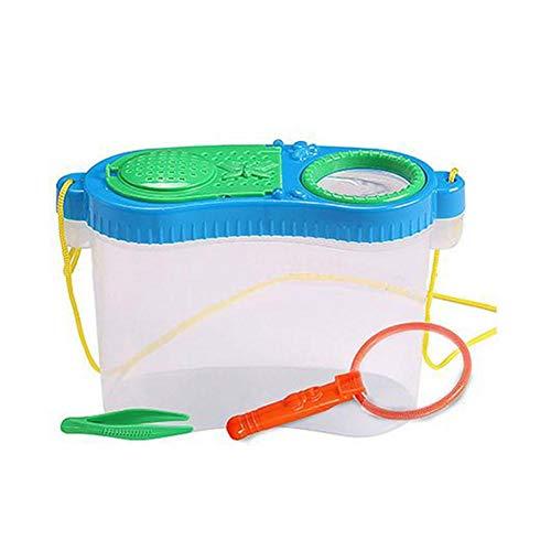 Kleine Tier Fütterung Box Beobachtung Früherziehung Experimentelle Forschung Boxen Kunststoff Werkzeug Spielzeug Kindheit Net Zucht Puzzle Spielzeug Für Kinder Jungen Mädchen (zufällige Farbe)