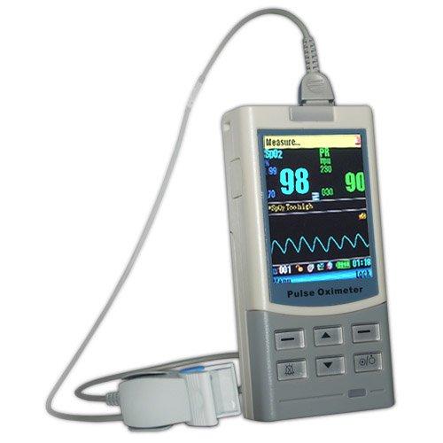 Hand Pulsoximeter Pulsoxymeter Handheld MD-300 M Profigerät mit Software USB Alarm Datenübertragung via Bluetooth