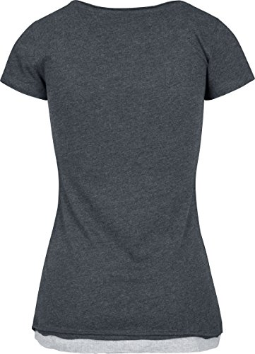 Urban Classics Damen Ladies Two-Colored T-Shirt cha/gry