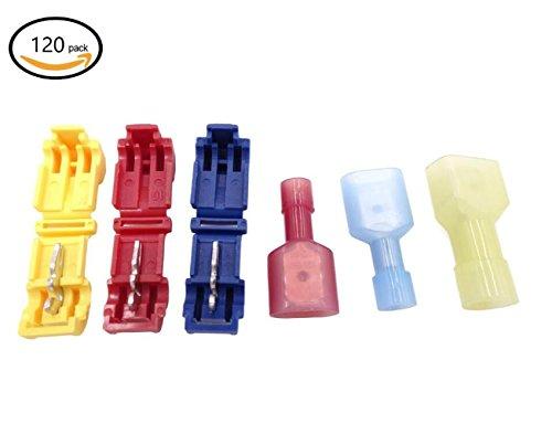kalork-120-quick-splice-wire-terminals-kit-vollstandig-isoliert-und-spaten-draht-stecker-set