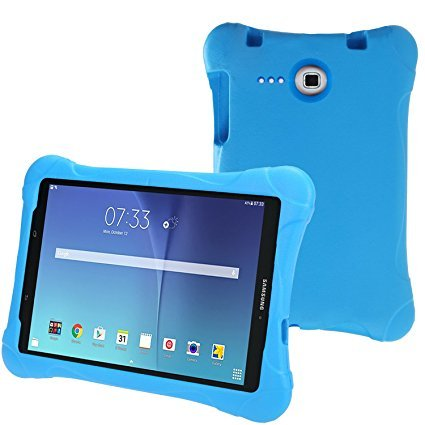 best service 8fe15 4d57e NEWSTYLE Tab E 8.0 Kids Case - Shockproof Light Weight Protection Handle  Stand Kids Case for Samsung Galaxy Tab E 8.0 Inch 2015 Tablet (Blue without  ...