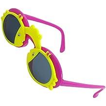 DealMux bambini braccia Plastic Frog Decor fucsia pesci Flip Up occhiali da sole