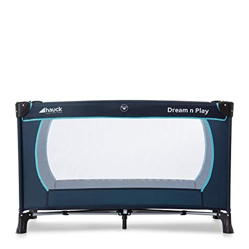 Hauck Kindereisebett Dream N Play Plus inklusive Matratze, seitlichem Reißverschluss, und Transporttasche, ab Geburt, tragbar, faltbar und klappbar, blau (navy aqua) 120 x 60 cm - 14
