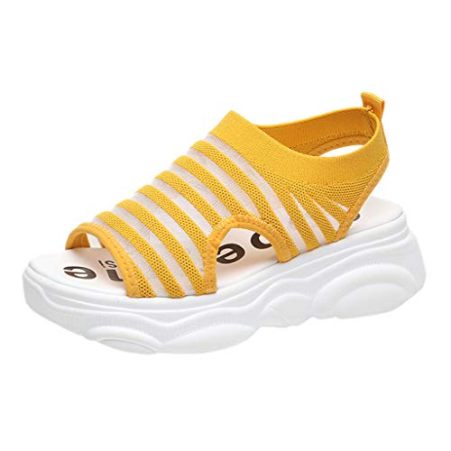 KERULA Women Fashion Casual Shoes, Damen Platform Shake Schuhe Mesh Freizeitschuhe Sneakers Air Cushion Breathable Sport Low Top Running Shoes Sportschuhe Damenschuhe und Laufschuhe Elastische Womens Casual Schuhe
