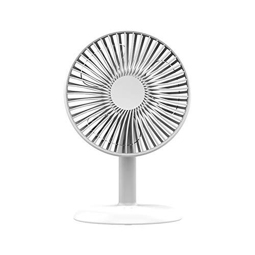 JINRU Desktop-Lüfter, Leiser Tragbarer, Einstellbarer Windgeschwindigkeits-USB-Akku Für Büro- Und Outdoor-Reisen,White