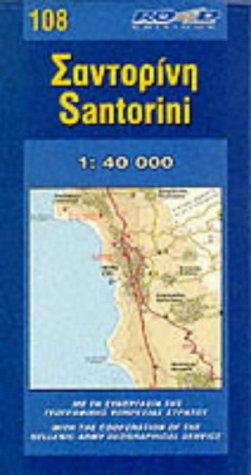 Carte routière : Santorin, N° 108 (en anglais)