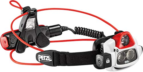 Petzl Erwachsene Nao Plus Stirnlampe, Black/Red, One Size Nano 2-clip