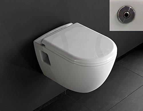 Aqua Bagno Design Hänge-WC Set LEIA TAHARAT - Wc inkl. Sitz Toilette Wand WC Taharet Bidet (Wand-bidet)