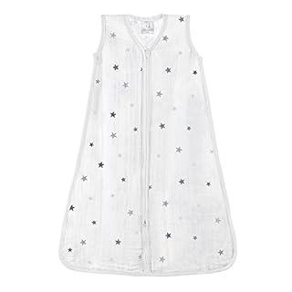 Aden + Anais  1.0 TOG sleeping bag, 100% cotton muslin, Twinkle, 12-18m