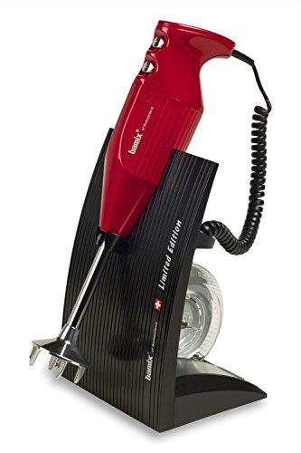 Bamix SuperBox Batidora de inmersión 1000L 250W Negro, Rojo - Licuadora (1000 L, 12000 RPM, 18000 RPM, Batidora de inmersión, Negro, Rojo, 250 W)