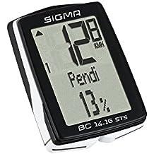 Sigma BC14.16 STS Ciclocomputador, Negro, Única