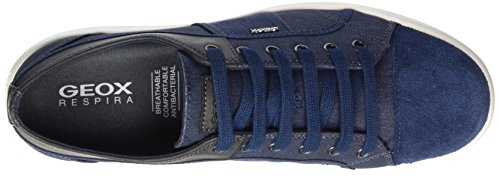 Geox U Warrens B, Sneakers Basses Homme Bleu (Navy/blue)