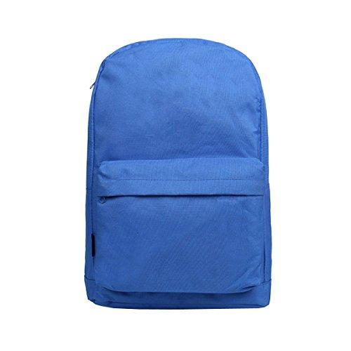 Ogert Unisex Tasche Lässig Im Freien Reiserucksack Feste Farbe Blue