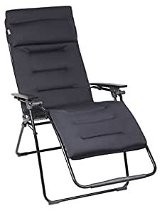 Lafuma Relax-Liegestuhl, Klappbar, Stufenlose Verstellung, Stahlkonstruktion, Air Comfort, Futura, dunkelblau, XL