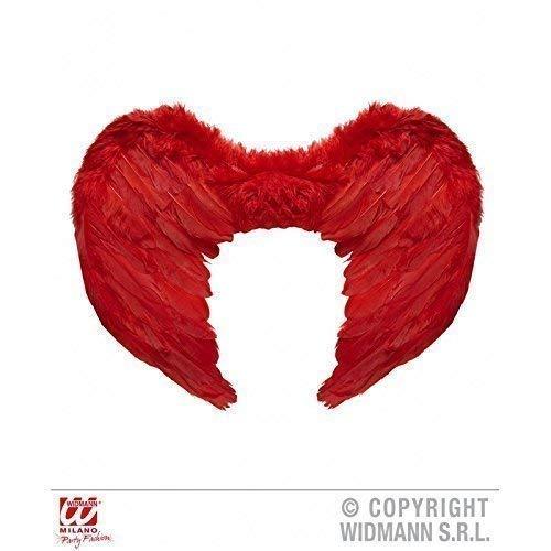 el aus roten Federn Nicht nur für dunkle Engel und Dämonen Kostüme ca. 37 x 50 cm ()