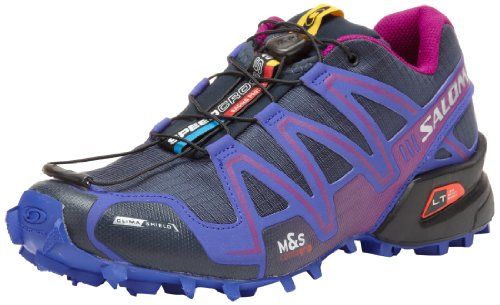 Salomon Speedcross 3 CS Women Trail Laufschuhe deep blue-spectrum blue-anemone purple - 40 2/3