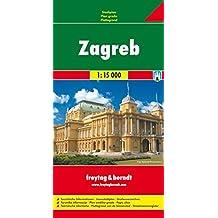 Freytag Berndt Stadtpläne, Zagreb - Maßstab 1:15 000