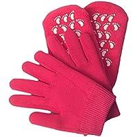 Healifty Suavizar los guantes y calcetines humectantes perfectos para la reparación de gel y curar la piel seca agrietada (Rosy Red)