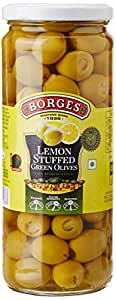 Borges Lemon Stuffed Green Olives, 450g