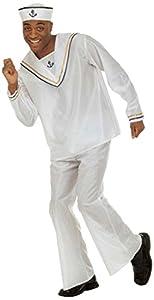WIDMANN Widman - Disfraz de marinero navy adultos, talla UK 46 (W3159-XL)