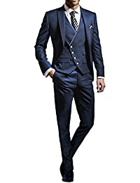 Suit Me Hommes 3 pi¨¨ces Costume Slim Fit veste de smoking costumes de f¨ºte de mariage, une veste, un pantalon