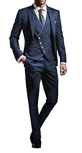 Suit Me 3 Parti Uomini Suit Slim Fit abiti festa di nozze smoking giacca ca0844f7193