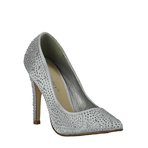 ... Sandaletten Damen Mit Absatz Pumps Hoher Absatz Damen Spitzschuh Perlen  Partei Entwerfer New Promi Style Größe 99ac27390f