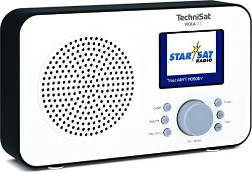 TechniSat Viola 2 C tragbares DAB Radio (DAB+, UKW, Lautsprecher, Kopfhöreranschluss, 2,4' Farbdisplay, Tastensteuerung, klein, 1 Watt RMS) weiß/schwarz