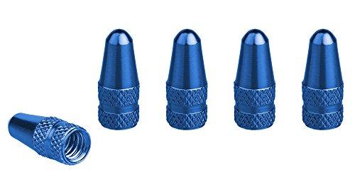 Xunits Ventilkappen Fahrrad - Presta / Französisch Alu eloxiert in verschiedenen Farben blau 5 Stck.