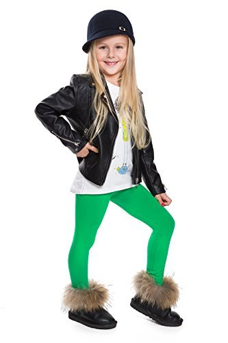 Hi! Mom WINTER KINDER LEGGINGS volle Länge Baumwolle Kinder Hose Thermische Material jedes Alter child28 - Grün, EU 128-134 (Hosen Hose Grüne)
