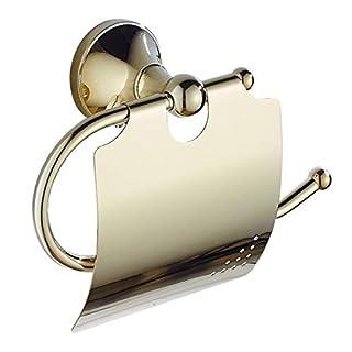 Slnglik Toilettenpapierhalter Bad Papierhandtuchhalter Wasserdichtes Rostfreies Messing Verchromt Goldart Und Weise Toilettenpapierhalterbohrungsinstallation