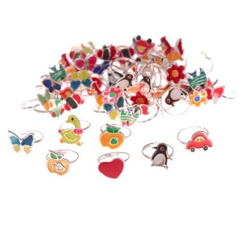 Sparpack-24-Mdchen-Ringe-Mitgebsel-Partygeschenk-Mitbringsel-zum-Kindergeburtstag