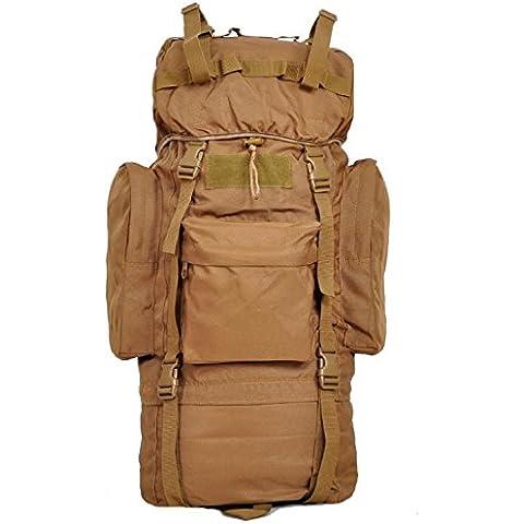 Un nuovo giorno tempo libero zaino a piedi viaggio Tote Bag tenda borsa capacit¨¤ 65L , wolf brown