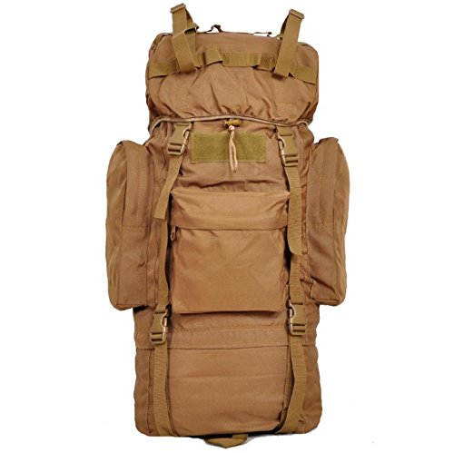 YYY-Un nuovo giorno tempo libero zaino a piedi viaggio Tote Bag tenda borsa capacità 65L , wolf brown wolf brown