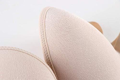 WUSLEI Trägerloser BH Brautkleid Latein Tanzkleid rückenfrei trägerlos unsichtbare Unterwäsche Kleine Brust Raffung Anti-Rutsch Übergröße BH Gr. 75B, beige - 5