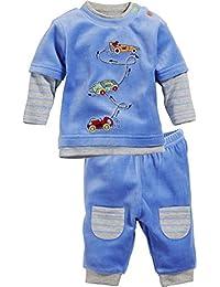 Schnizler 2-Piece Nicki Long Sleeve Shirt and Bottoms Racing Cars, Chándal para Bebés