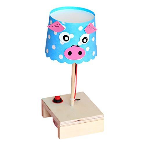 Manuelle DIY Cartoon Tischlampe Technologie Kleine Produktion Kleine Erfindung Grundschulbildung Materialwissenschaft Experimentelles Spielzeug (Color : Pig)
