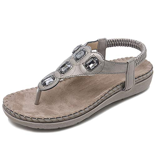 Pinnacle Mint (Sandalen Damen Sommer Flip Flops BohemianHerringbone Pinnacle Sandalen grau 38)