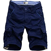 BicRad Herren Cargo Shorts Sommer Bermudas Kurze Hose Baumwolle