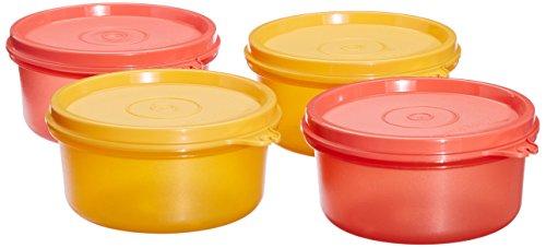 Tupperware Tropical Plastic Container Set, 230ml, Set of 4, Multicolour (TUP_B00LB82VAW)