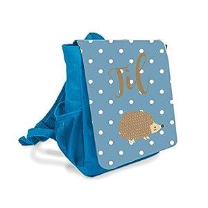 Kinder-rucksack für Jungen mit Namen u. Igel