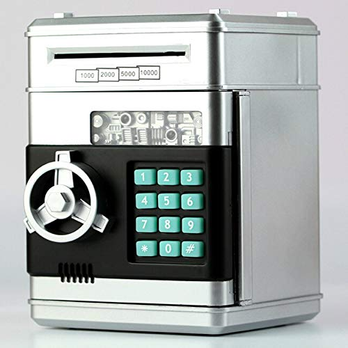 Yaoaoden Kids Cartoon Electronic Money Bank Security Piggy Bank Mini ATM Password Coins Money Savings Box Smart Voice Toys -
