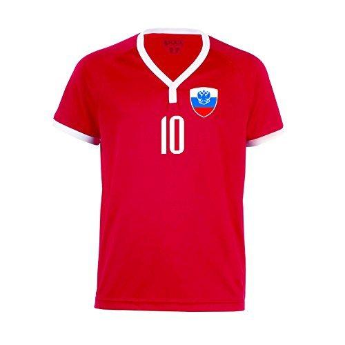 nationshirt Russland Trikot BR 10 R - R-R-R Hose + Stutzen WM 2018 World Cup Trikot Russia (140)