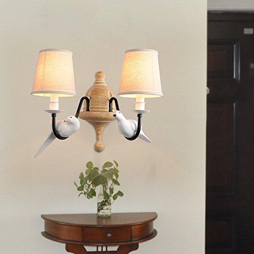 Bambus-schlafzimmer Kopfteil (Wandleuchte Wandlampe Wohnzimmer Schlafzimmer Kopfteil Stoff Vögel der kontinentalen Kunst Wandleuchte , led light bulb)