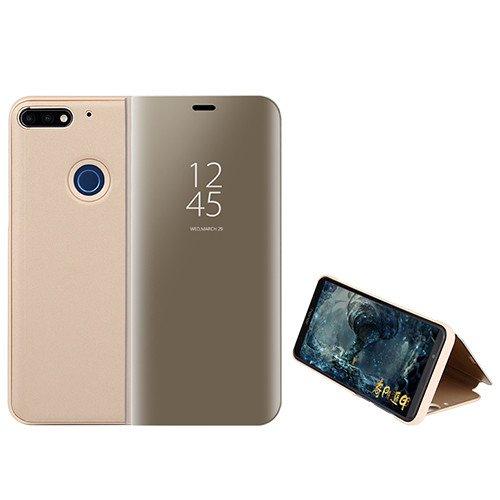 Custodia® Espejo Chapado Transparente View Stand Función Flip Funda para Xiaomi Mi 8 Lite/Xiaomi Mi 8 Youth/Xiaomi Mi 8X (Oro)
